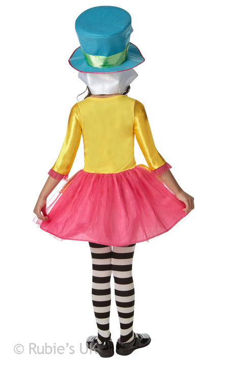 Girls Mad Hatter Alice in Wonderland Book Week Costume Kids Fancy Dress Outfit Thumbnail 2