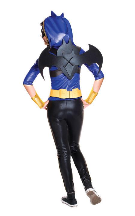 Girl's Deluxe DC Superhero Batgirl Fancy Dress Costume Thumbnail 2