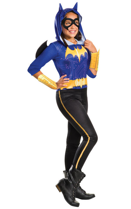 Girl's DC Heros Batgirl Fancy Dress Costume Thumbnail 1