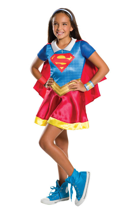 Girl's DC Hero Supergirl Fancy Dress Costume Thumbnail 1