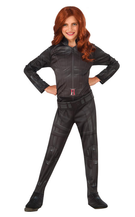 Girl's Classic Black Widow Fancy Dress Costume Thumbnail 1