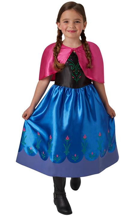 Classic Anna Disney Frozen Girl's Fancy Dress Costume Thumbnail 1