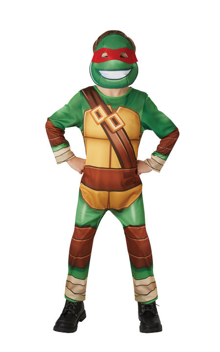 Boy's TMNT Half Shell Hero Fancy Dress Costume Thumbnail 1