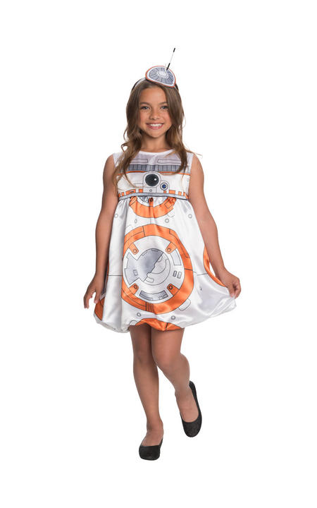 Girl's Deluxe BB8 Star Wars Fancy Dress Costume Thumbnail 1