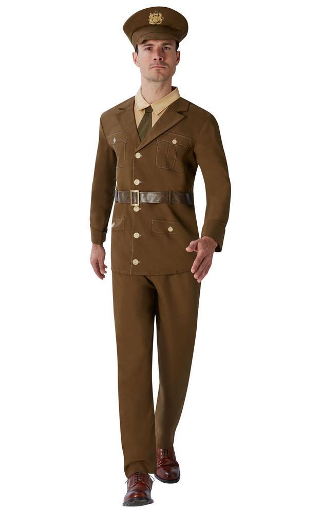 Men's World War 1 Soldier Fancy Dress Costume