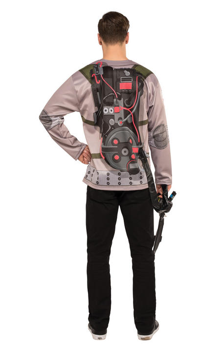 Men's Ghostbuster Shirt Fancy Dress Costume Thumbnail 2
