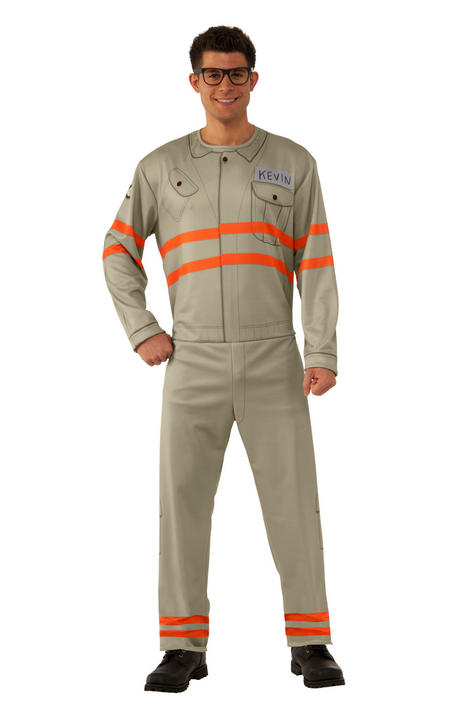 Men's Ghostbusters Kevin Fancy Dress Costume Thumbnail 1