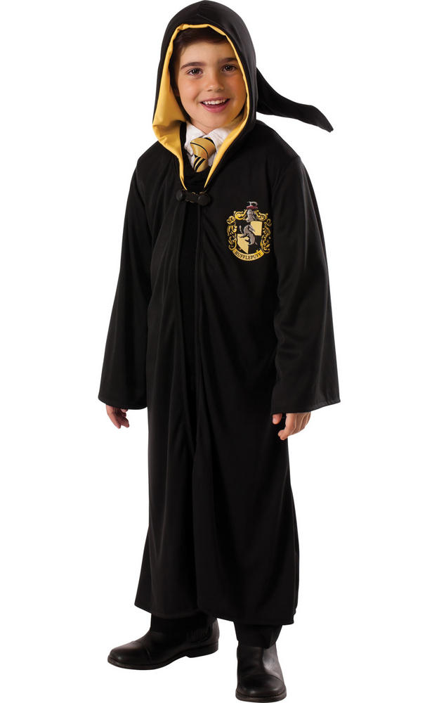 Kids Book Week Harry Potter Hufflepuff Robe Fancy Dress Outfit