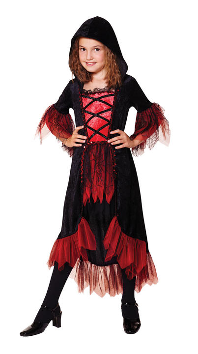 Girl's Vampire Fancy Dress Costume Thumbnail 1