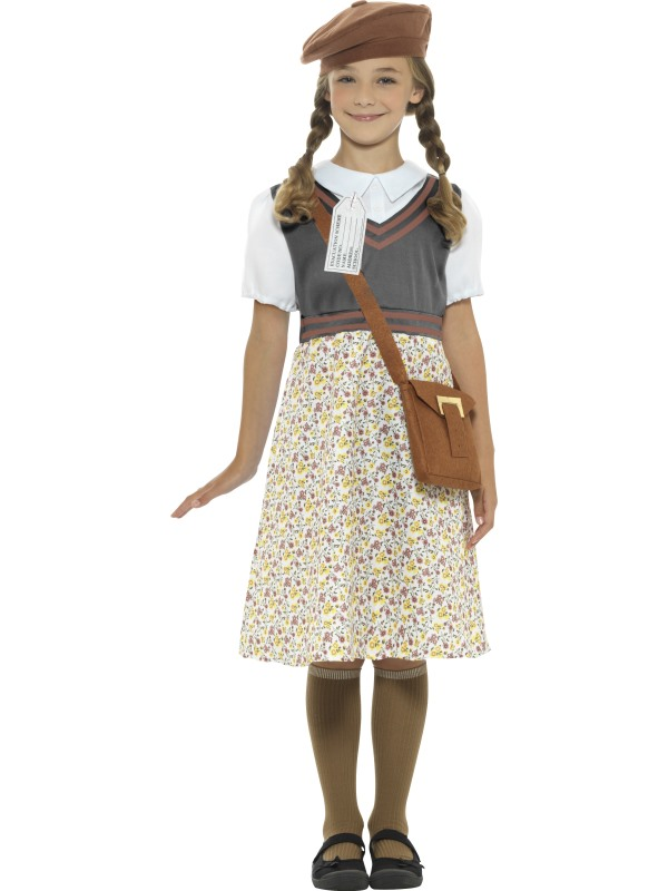 Evacuee School Girl Fancy Dress Costume