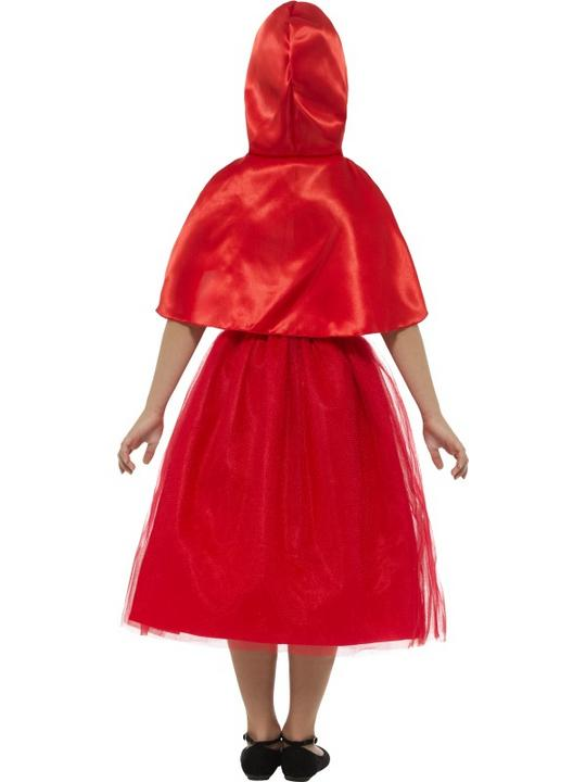 Girl's Deluxe Red Riding Hood Fancy Dress Costume Thumbnail 2