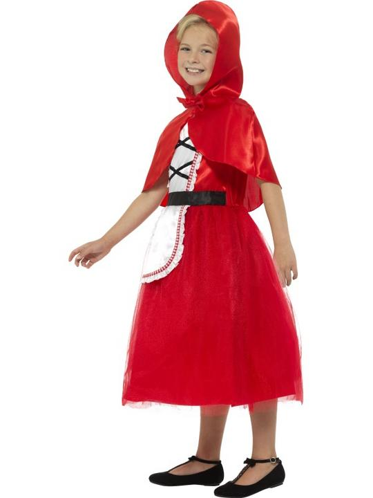 Girl's Deluxe Red Riding Hood Fancy Dress Costume Thumbnail 3