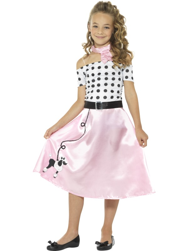 50's Poodle Girl Fancy Dress Costume