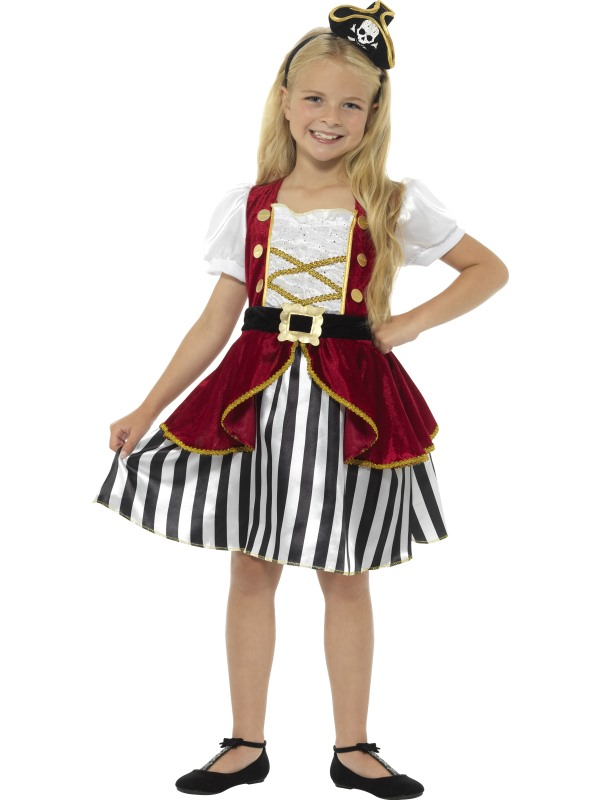 Deluxe Pirate Girl Fancy Dress Costume