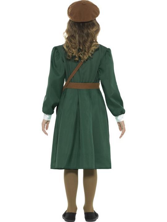 WW2 Evacuee Girl Fancy Dress Costume Thumbnail 2