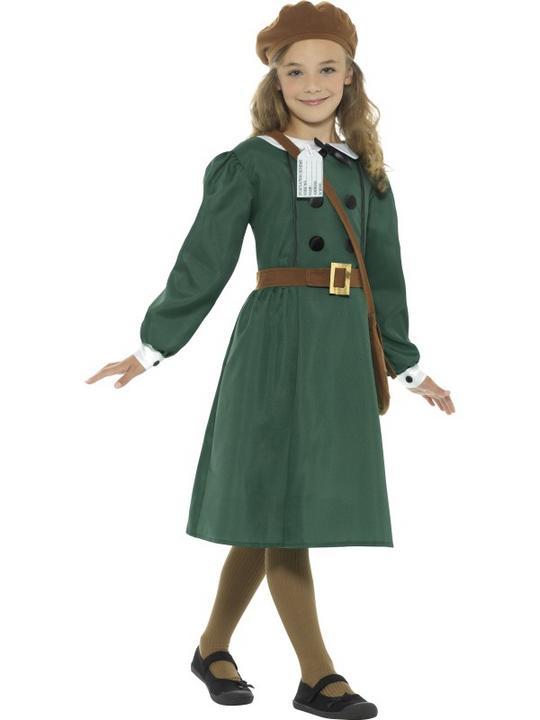 WW2 Evacuee Girl Fancy Dress Costume Thumbnail 3