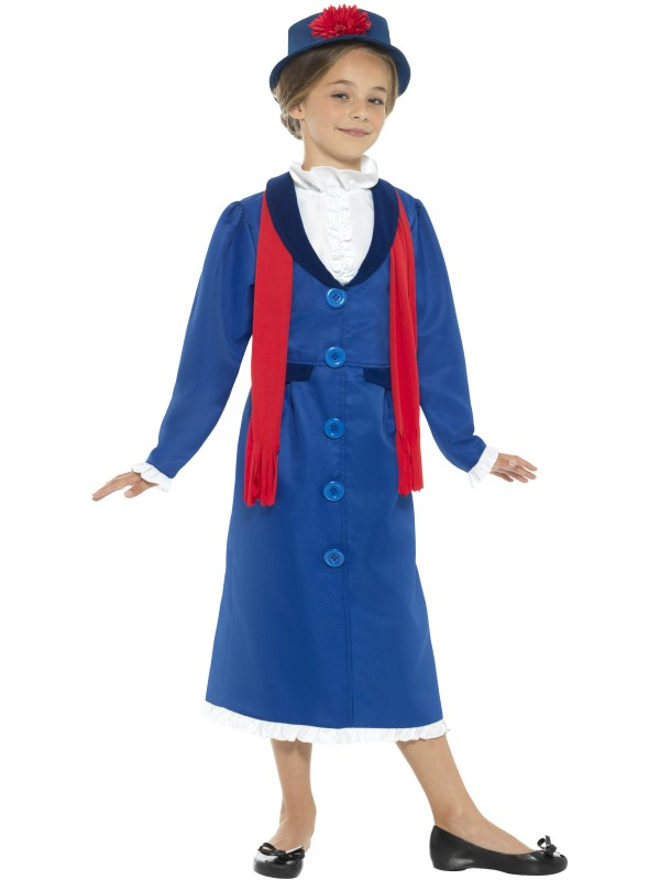 Girl's Victorian Nanny Fancy Dress Costume