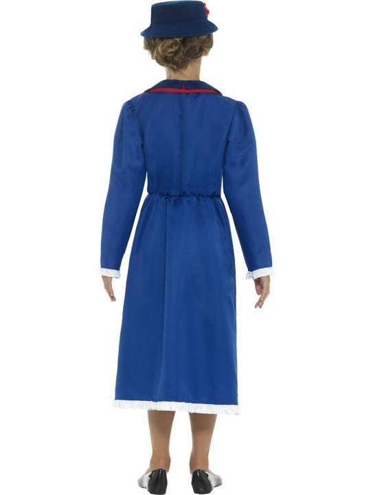 Girl's Victorian Nanny Fancy Dress Costume Thumbnail 2