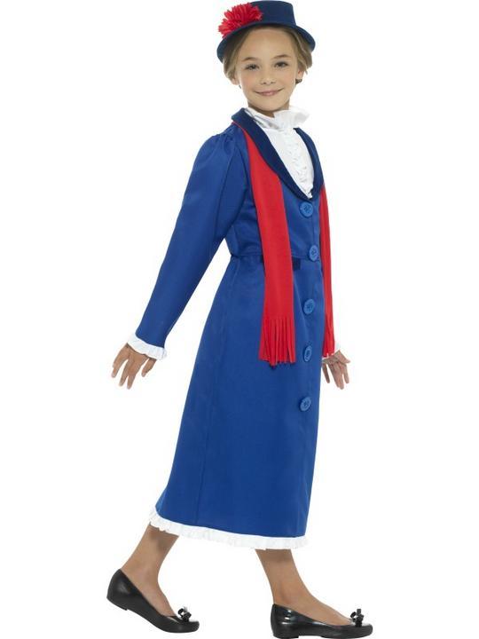 Girl's Victorian Nanny Fancy Dress Costume Thumbnail 3