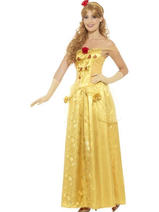 Golden Princess Women's Fancy Dress Costume Thumbnail 2