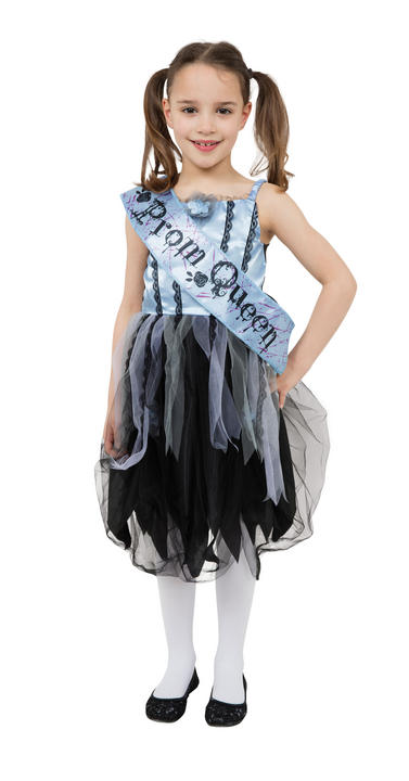 Girl's Bloody Prom Queen Fancy Dress Costume Thumbnail 1