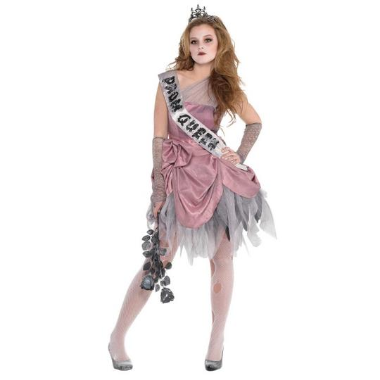 Girl's Zombie Prom Queen Fancy Dress Costume Thumbnail 1