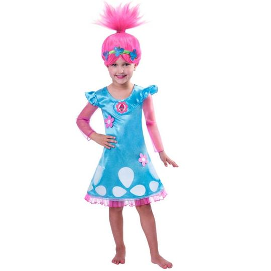 Trolls Poppy Girls Fancy Dress Costume Thumbnail 1