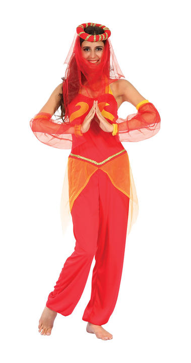Women's Harem Dancer Fancy Dress Costume Thumbnail 1