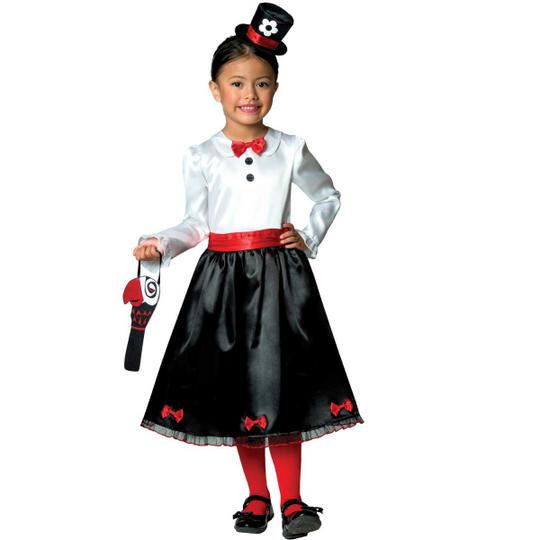 Victorian Nanny Girl's Fancy Dress Costume Thumbnail 1