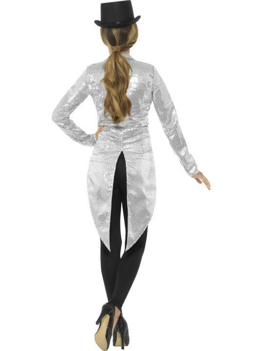 Women's Sequin Tailcoat Jacket Fancy Dress Costume Thumbnail 2