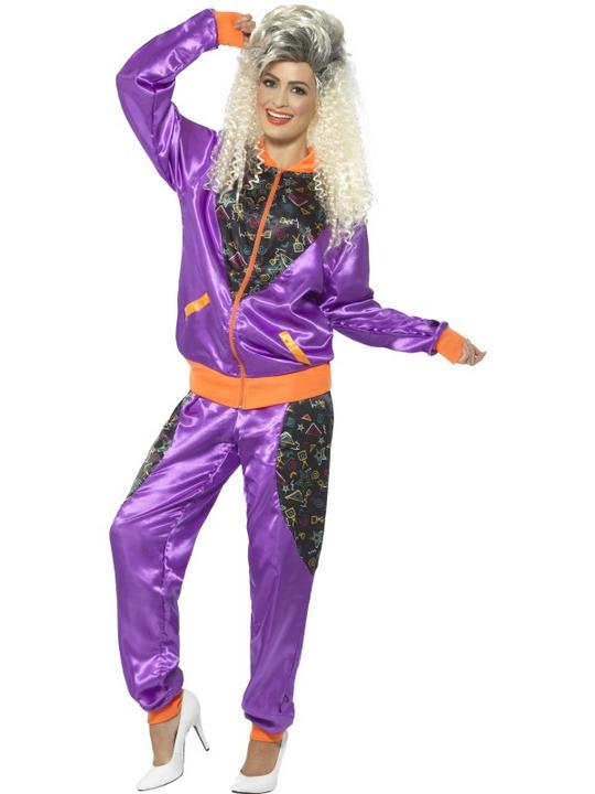 Retro Shell Suit Women's Fancy Dress Costume Thumbnail 1
