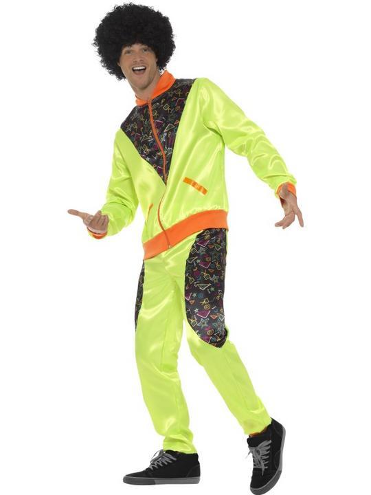 Retro Shell Suit Men's Fancy Dress Costume Thumbnail 2