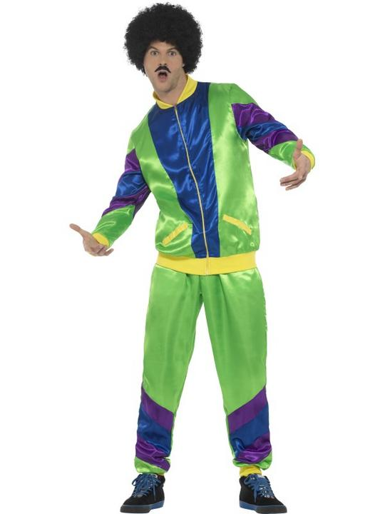 80's Height of Fashion Shell Suit Men's Fancy Dress Costume Thumbnail 1