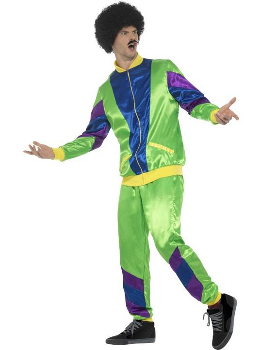 80's Height of Fashion Shell Suit Men's Fancy Dress Costume Thumbnail 2