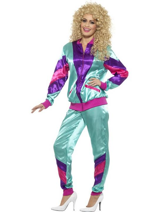 80's Height of Fashion Shell Suit Women's Fancy Dress Costume Thumbnail 2
