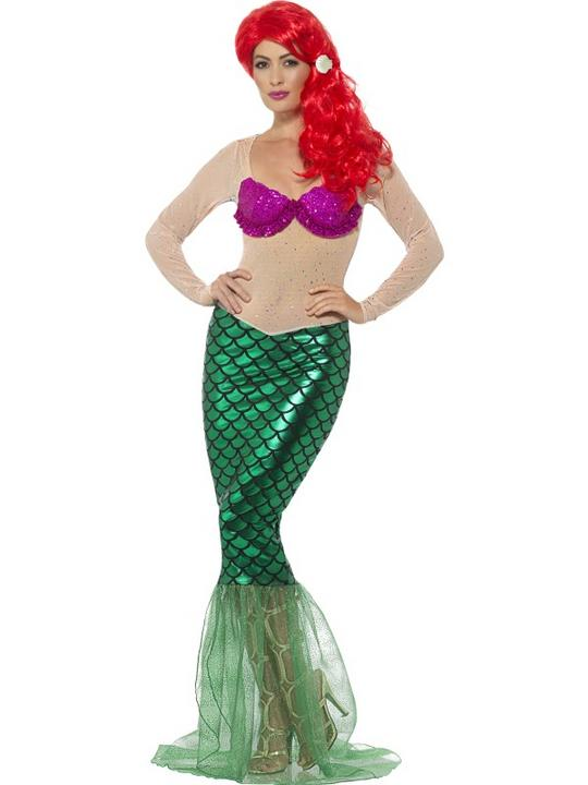 Deluxe Sexy Mermaid Fancy Dress Costume Thumbnail 1