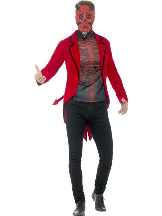 Day of the Dead Devil Men's Fancy Dress Costume Thumbnail 1