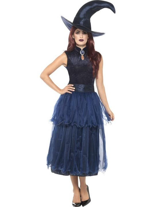Deluxe Midnight Witch Women's Fancy Dress Costume Thumbnail 1
