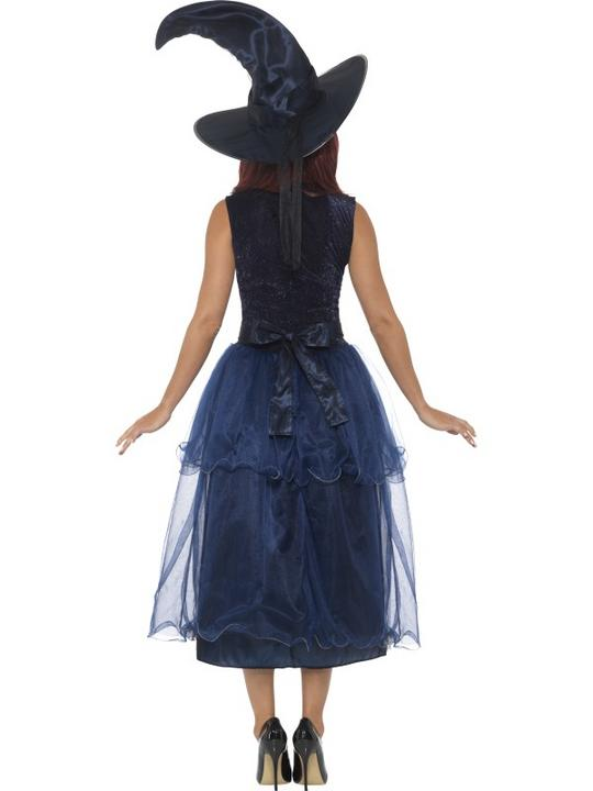 Deluxe Midnight Witch Women's Fancy Dress Costume Thumbnail 2