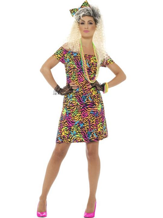 80's Party Animal Women's Fancy Dress Costume Thumbnail 1