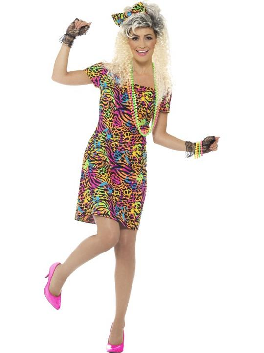 80's Party Animal Women's Fancy Dress Costume Thumbnail 2