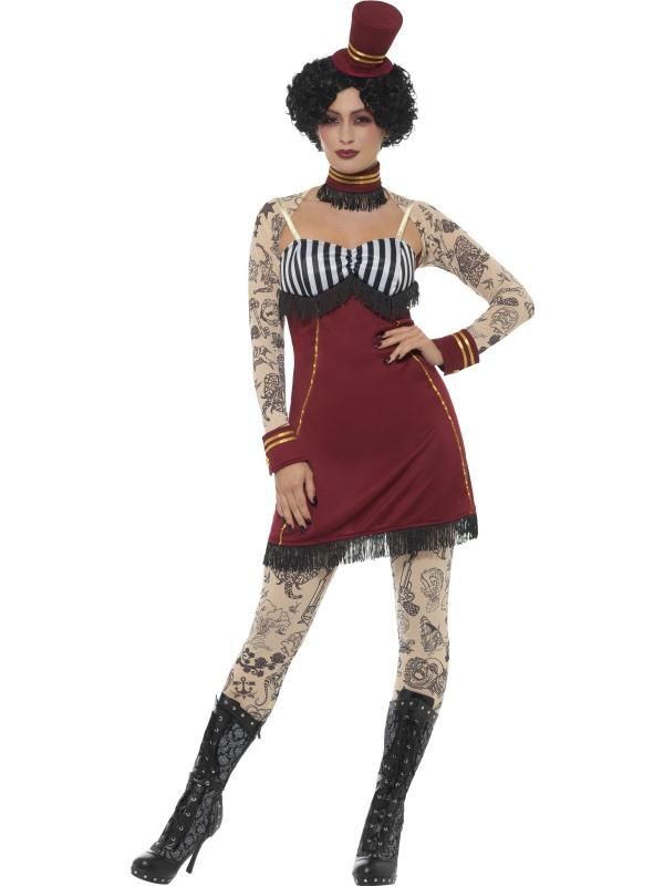 Deluxe Tattoo Lady Women's Fancy Dress Costume