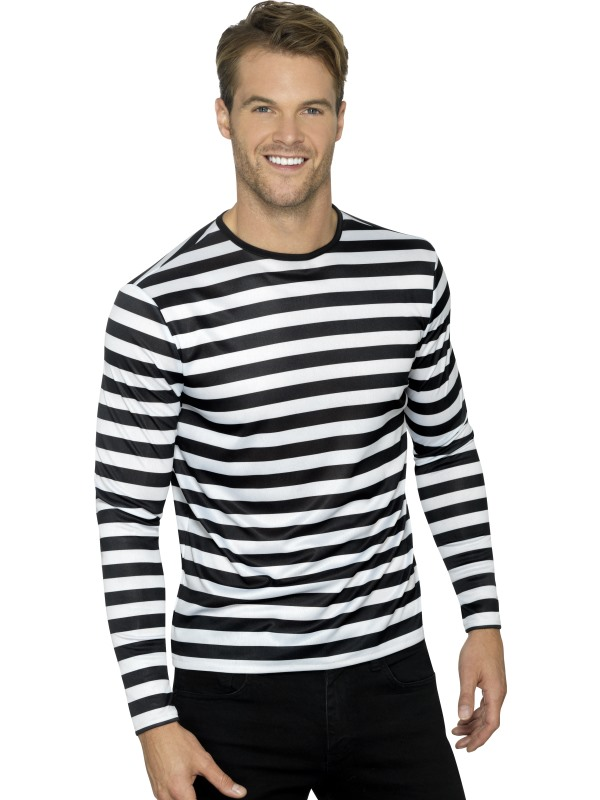 Stripy T-Shirt Unisex Fancy Dress Costume