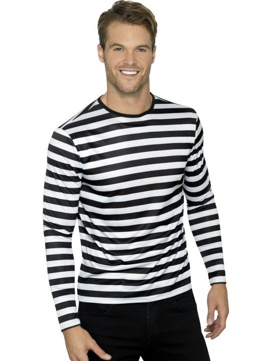 Stripy T-Shirt Unisex Fancy Dress Costume Thumbnail 1