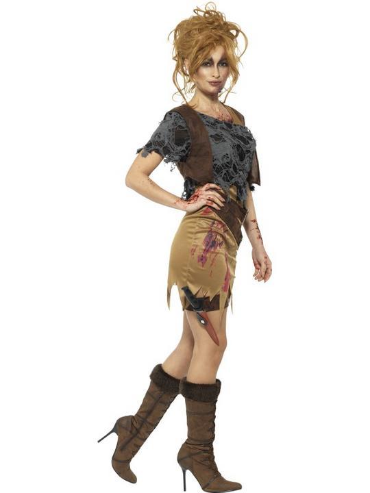 Deluxe Zombie Huntress Women's Fancy Dress Costume Thumbnail 2