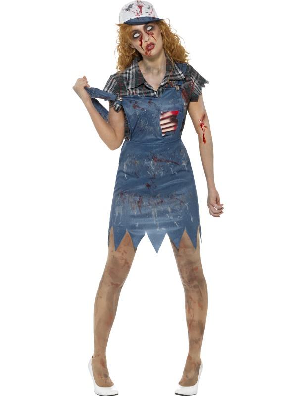 Zombie Hillbilly Women's Fancy Dress Costume