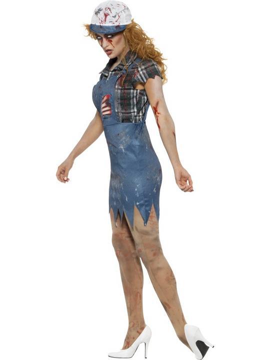 Zombie Hillbilly Women's Fancy Dress Costume Thumbnail 2
