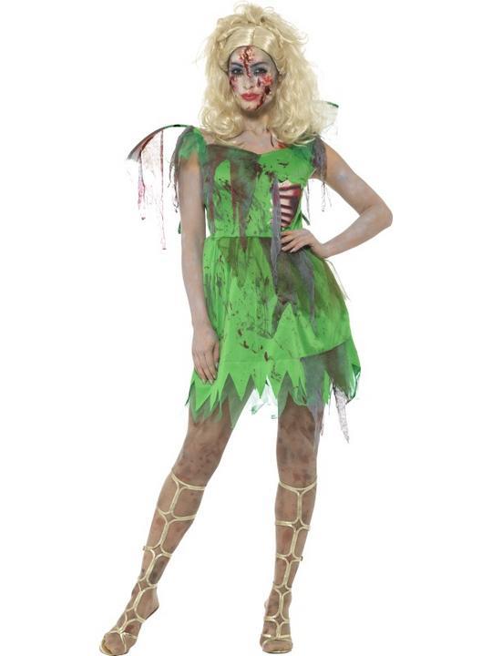 Zombie Fairy Women's Fancy Dress Costume Thumbnail 1