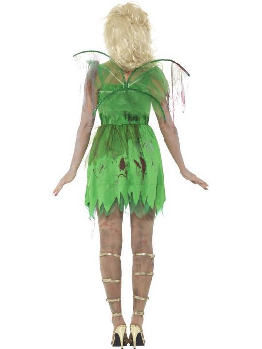 Zombie Fairy Women's Fancy Dress Costume Thumbnail 2