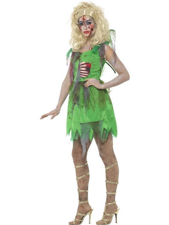 Zombie Fairy Women's Fancy Dress Costume Thumbnail 3